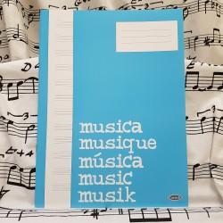 Cahier de musique 12 portées